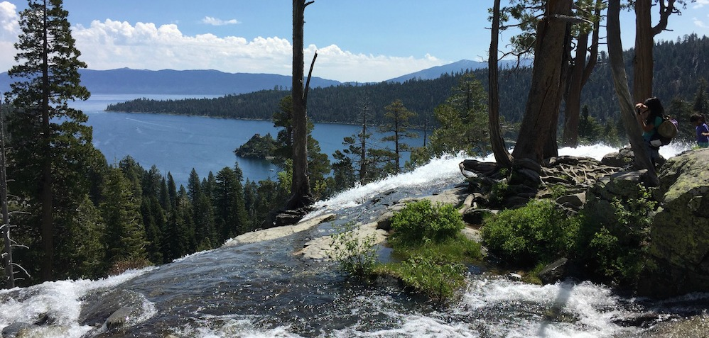 View of Lake Tahoe from Emerald Bay and Eagle Falls