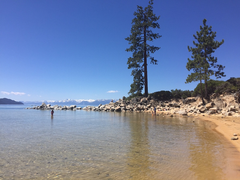 Sand Harbor State Park on a beautiful June day