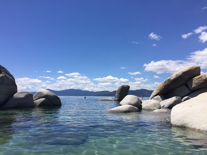 The clear waters of Sand Harbor State Park