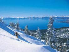 Lake Tahoe in the winter